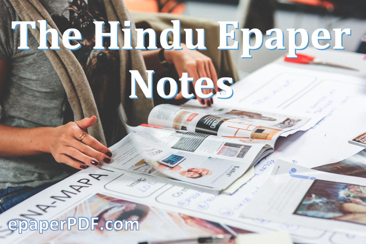 The Hindu Epaper Notes: 15 & 16 August 2019 - EpaperPDF Free